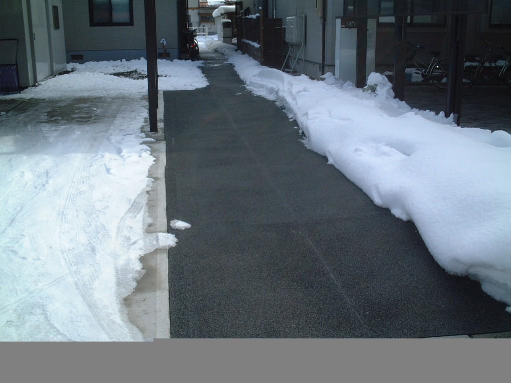 上山市住宅玄関前