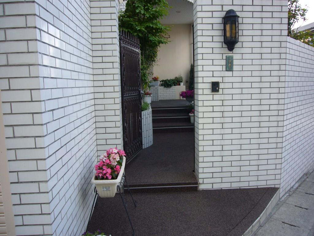 山形市住宅アプローチ&階段1