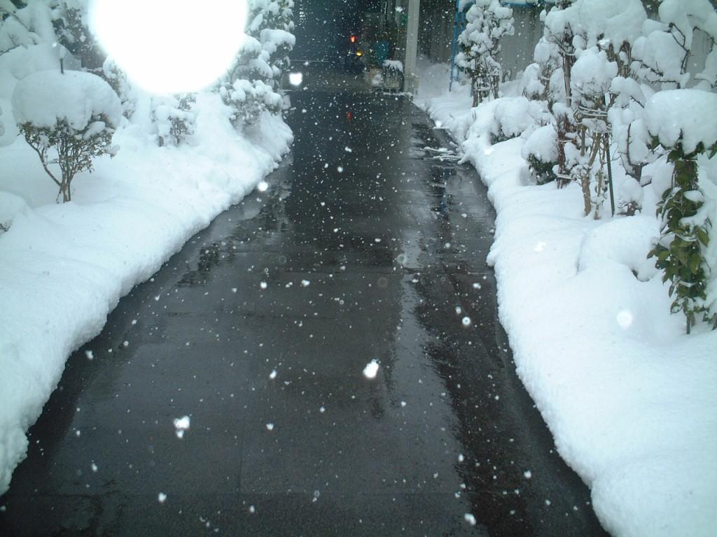 山形市玄関前通路