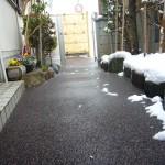 山形市玄関前通路融雪状況2013.12.28
