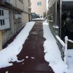 【通路融雪】山形市住宅まで通路融雪状況2013.12.28