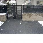 山形市玄関前駐車場融雪状況2013.12.28