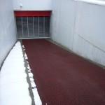 山形市七日町地下駐車場入り口スロープ融雪状況
