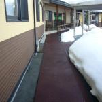 山形県日町老人施設融雪状況