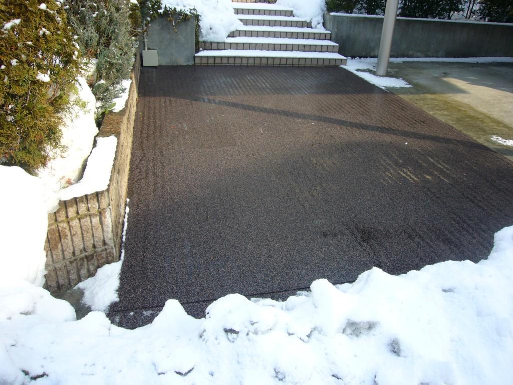 山形市住宅駐車場融雪状況2018.02.09
