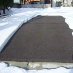 山形市住宅通路融雪状況