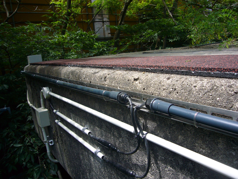 山形県小国町発電所雪庇対策用ヒーター工事2018.07.26