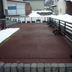 山形県村山市玄関前融雪状況