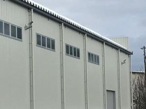 大岸製作所米沢製造部折半屋根つらら防止ヒーター設置工事2020.11.30