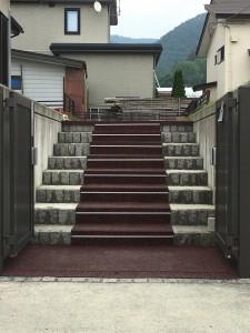 村山市住宅玄関前階段融雪工事2021.06.16